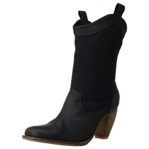 Anthropologie J Shoes Black Boots Western Booties